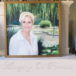 Oil Portrait Painting by Todd Krasovetz Titled Inga . Residence of Rancho Santa Fe. CA