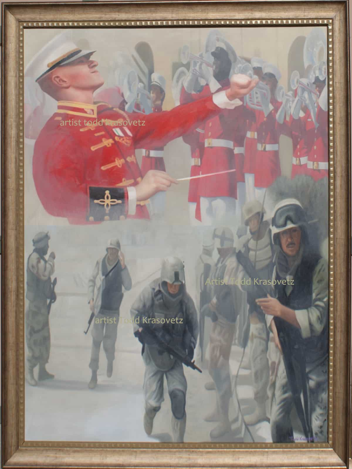 Military Art Titled Corpsman Up Original Limited Edition Print by Todd Krasovetz